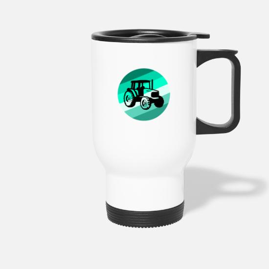 Christmas Present Mugs & Drinkware - tractor - Travel Mug white