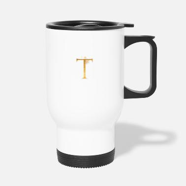 Initial Lettre initiale T - Mug isotherme