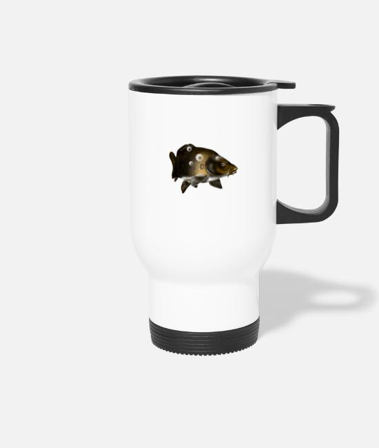 Carp Mugs & Drinkware - carp - Travel Mug white