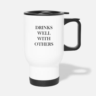 Young Persons DRINKS WELL WITH OTHERS OCTOBERFEST TSHIRT - Travel Mug