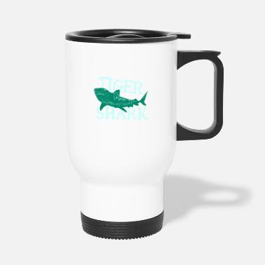 Friend Fish Tiger Shark Danger Diver Gift - Travel Mug