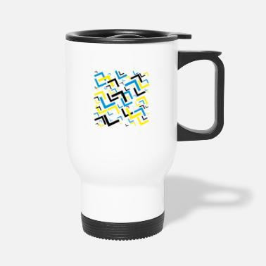 Triangle Colorful abstract geometric background - Mug isotherme