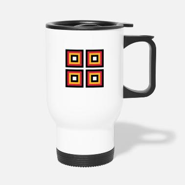Square Squares - Travel Mug