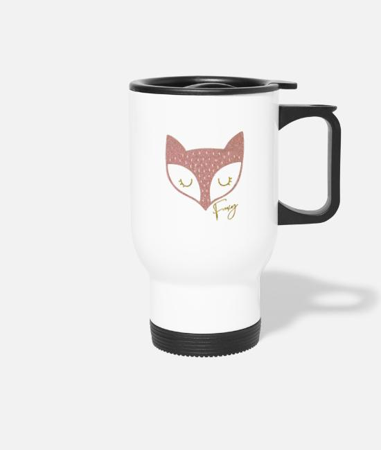 Pregnancy Mugs & Drinkware - fox | foxy fox - Travel Mug white