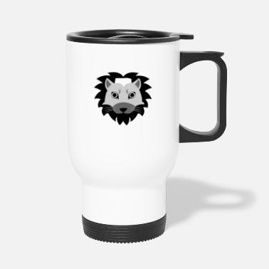 Lion Head Lion's head - Lion head - Travel Mug