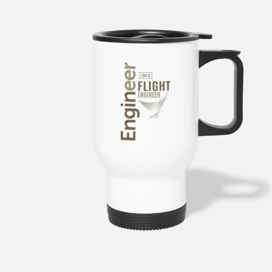 Love Mugs & Drinkware - Flight Engineer - Travel Mug white