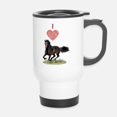 I love horses - I love horses - Travel Mug