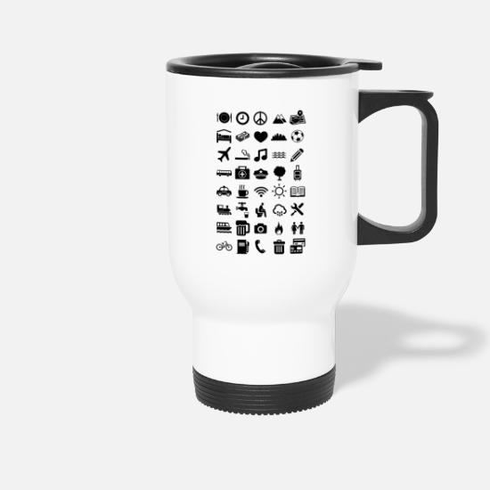 2019 Mugs & Drinkware - Symbols for tourists - Travel Mug white