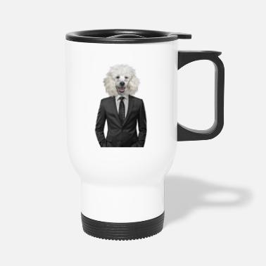 Suit dog | poodle suit | animal in suit - Travel Mug