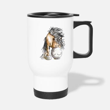 Fjord Horse Cartoon Fjord Horse - Travel Mug