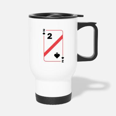 Texas Two spades playing card poker card - Travel Mug