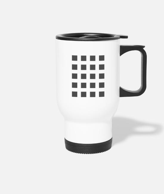 Colour Mugs & Drinkware - Gray squares - Travel Mug white