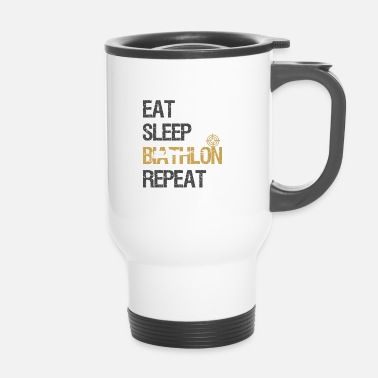 Norvegia Eat Sleep Biathlon World Cup Ski Shooting Gift - Tazza termica