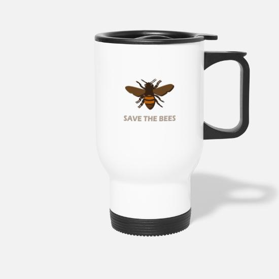 Saves Mugs & Drinkware - Save the bees - Save the bees - Travel Mug white