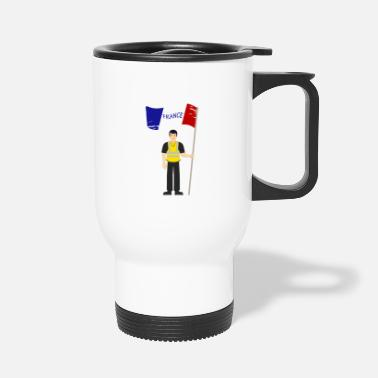 Gilet Jaune Protestant - Travel Mug