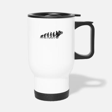 Evolution Biker Motorcyclist Motorcycle Evolution - Travel Mug