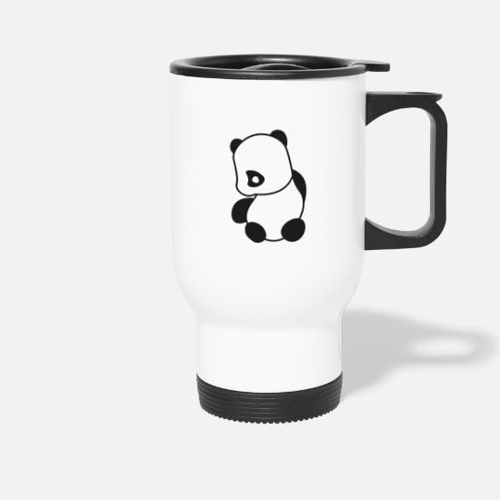 Manga Tassen & Becher - Panda Emo Looking Sad - Thermobecher Weiß