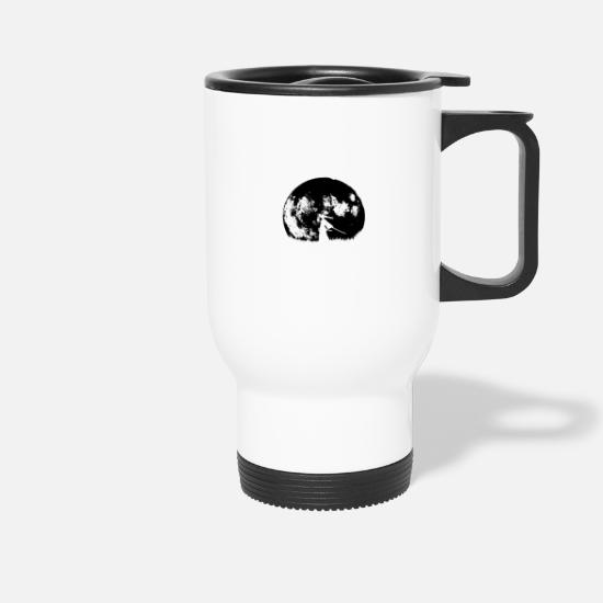 Moon Mugs & Drinkware - Full moon warrior - Travel Mug white