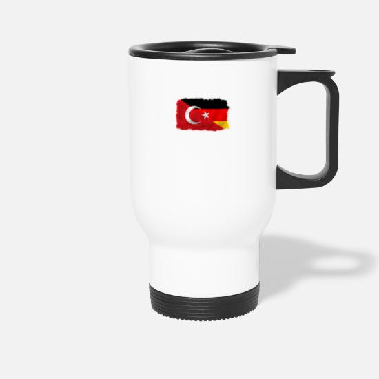 Birthday Mugs & Drinkware - Turkey and Germany flag - Travel Mug white
