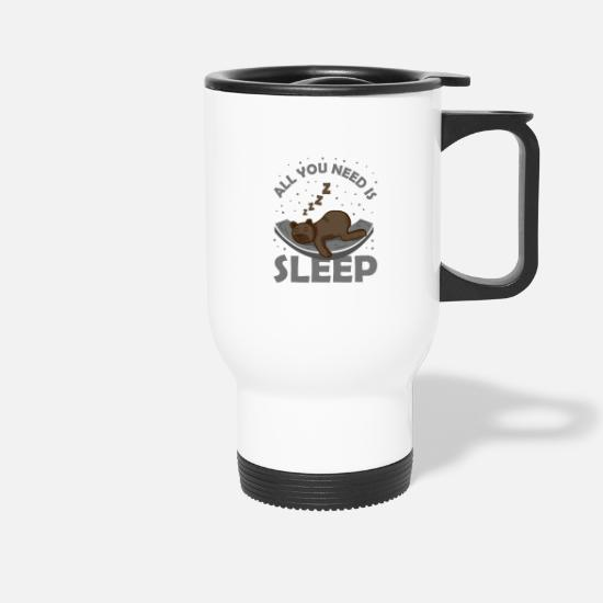 Bed Mugs & Drinkware - Sleep Sleep deprivation Sleep sloth fatigue - Travel Mug white