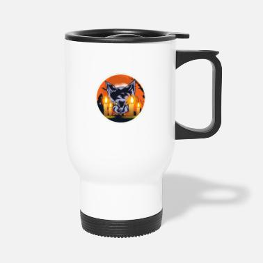 Witching Hour Mens Witching Hour Graphic Cat - Travel Mug