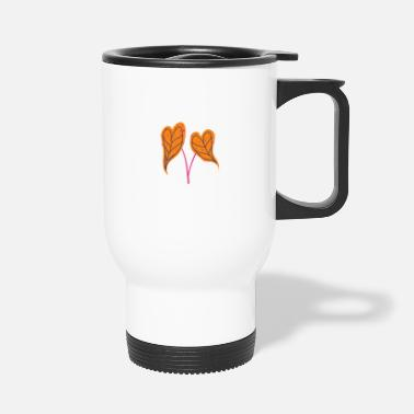 Fine Heart leaf heart leaf love gift - Travel Mug