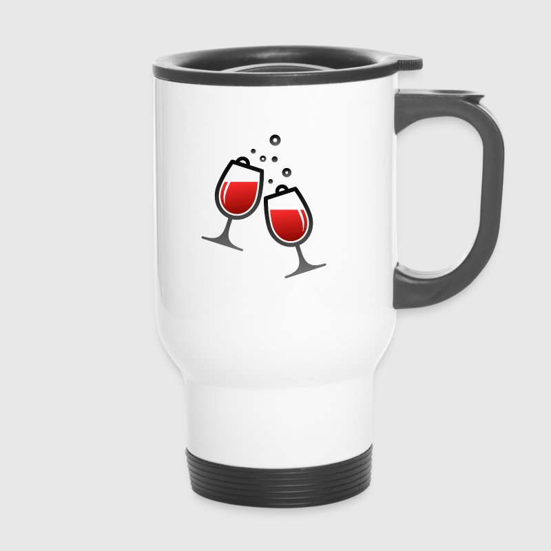 Two wine glasses - Travel Mug