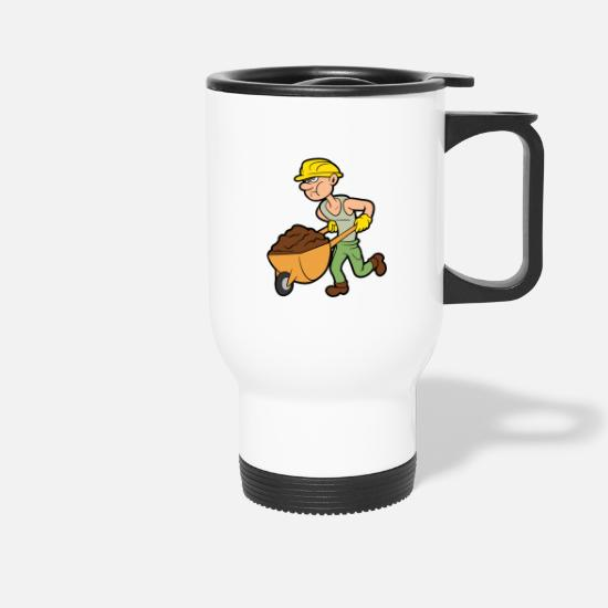 Site Mugs & Drinkware - Construction worker building site building construction craftsman - Travel Mug white