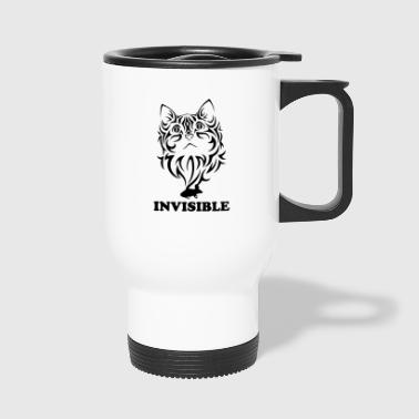 invisible blak - Travel Mug