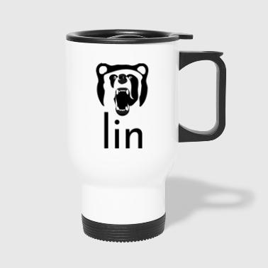 Berlin Art Abstract Bear Gift Design Graphic - Thermo mok