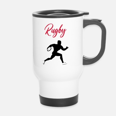 League rugby tackle scrum ruck penalty rough gift - Travel Mug