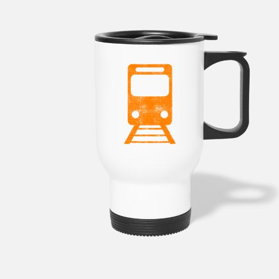 Train Driver Mugs & Drinkware - train - Travel Mug white