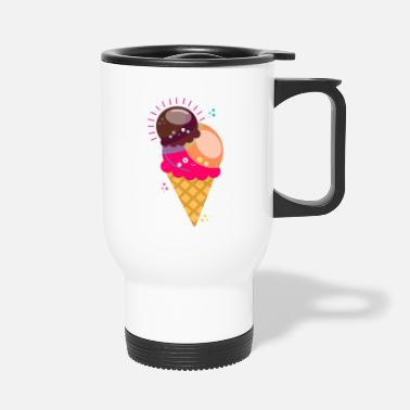 Ice-cream-cone Ice cream cone Ice cream cone Sweet - Travel Mug