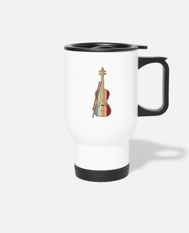 Guitar Mugs & Drinkware - Violin Player - Travel Mug white