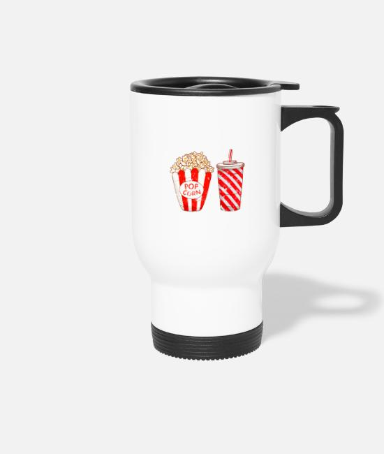 Hamburger Mugs & Drinkware - Retro Vintage Grunge Style Popcorn Cola Lemonade - Travel Mug white