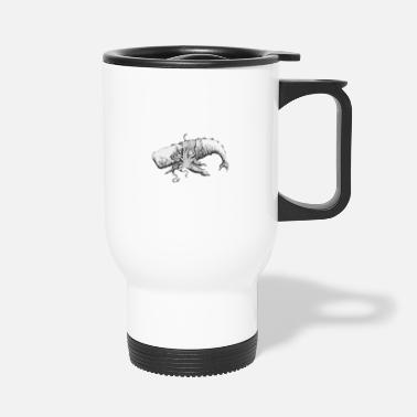 Sperm Whale Sperm whale and giant squid. Vacation shirt. - Travel Mug