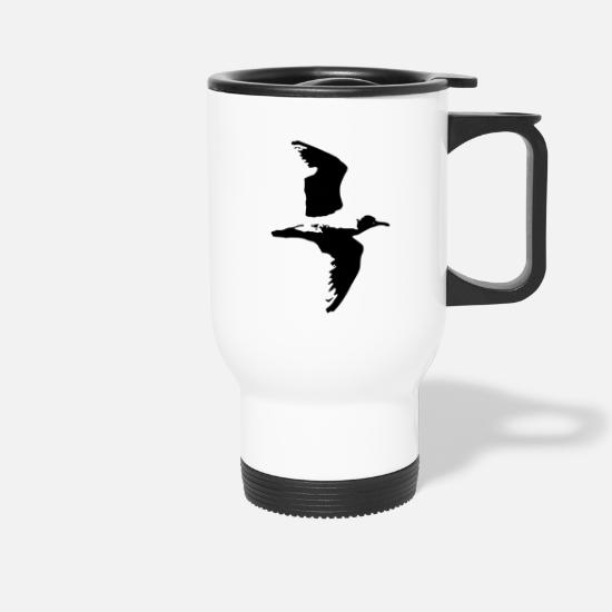 National Park Mugs & Drinkware - Seagull in flight - Travel Mug white