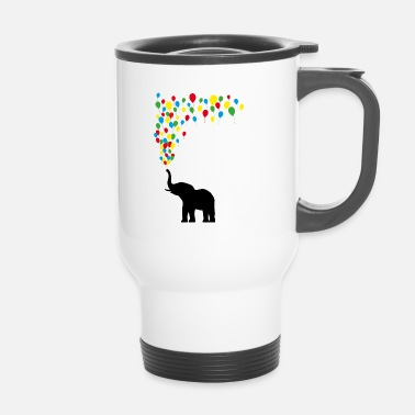 Cirque Éléphant Balloon Joy Game Fun Gift - Mug thermos