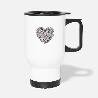 Corazon heart heart corazon black - Travel Mug