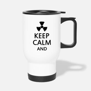 Trefoil keep calm and radioactive - Travel Mug