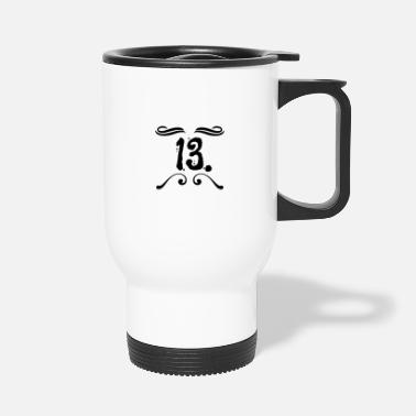 Superstition Unhappy day of the thirteenth - superstition design - Travel Mug