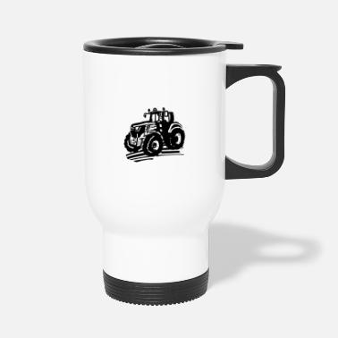 Tractor, farmer, children big and small - Travel Mug