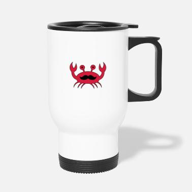 Mustache Crab with mustache - Travel Mug