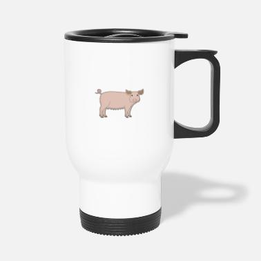 Swine Flu Pig looks - Travel Mug