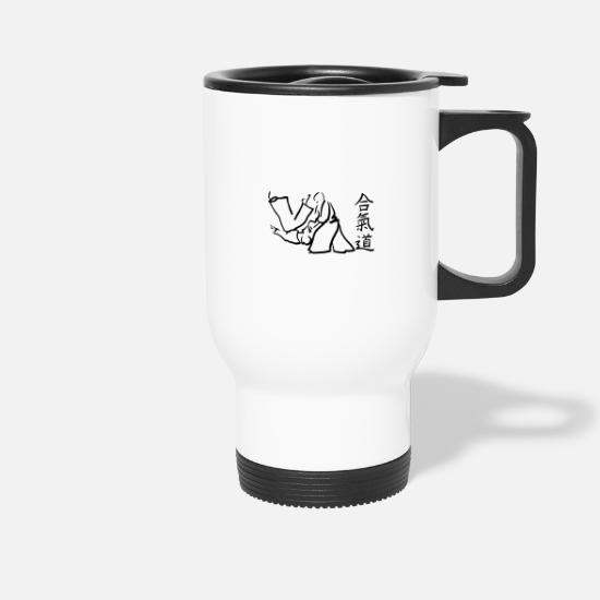 Tae Kwon Do Mugs & Drinkware - aikido - Travel Mug white