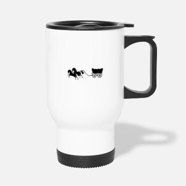 Equitation carriage horses - Travel Mug