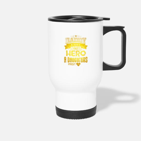 Love Mugs & Drinkware - Father's gift Father's Day Love Dad's birthday saying - Travel Mug white