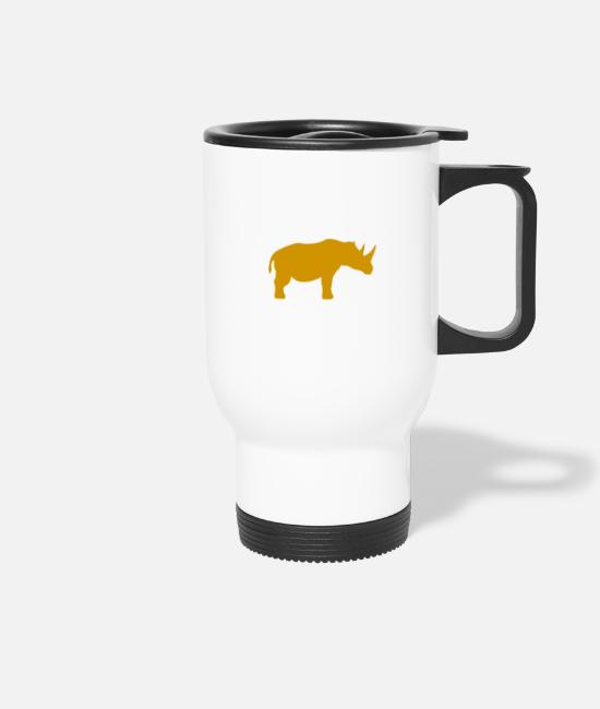 Realistic Mugs & Drinkware - YLA 0010 Clocks 0004 03 Real Rhino v 1 0 400x225mm - Travel Mug white
