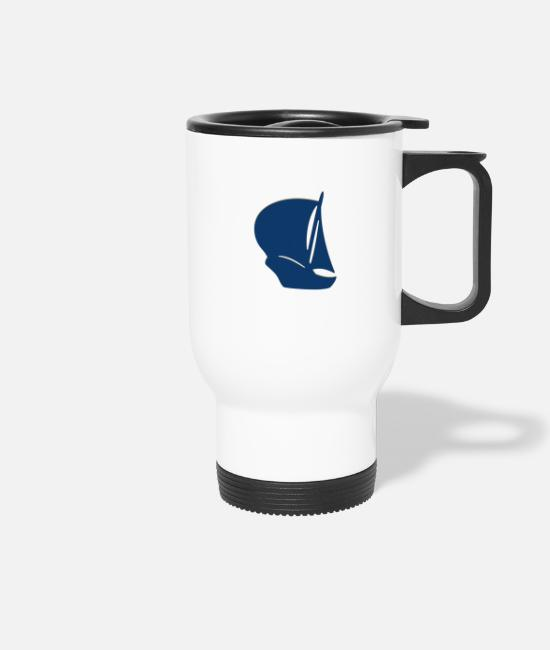 Sail Boat Mugs & Drinkware - Pirates sailing ship - Travel Mug white