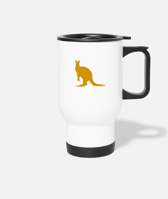 Mammal Mugs & Drinkware - Real Kangaroo - Travel Mug white